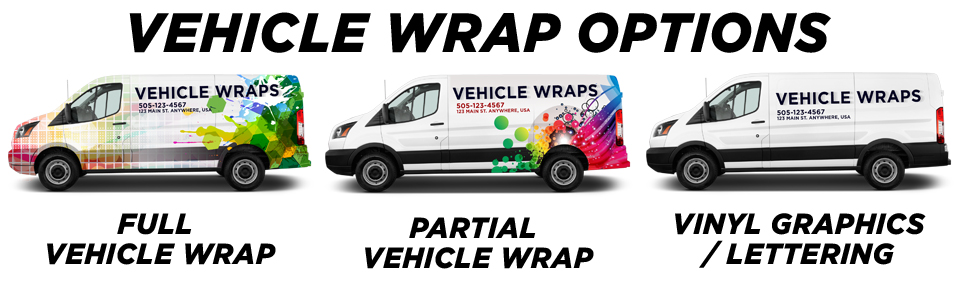 Prue Vehicle Wraps vehicle wrap options