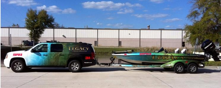 custom truck and boat wrap
