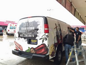 custom vehicle wrap installation