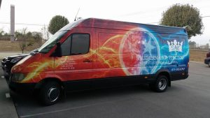 custom attractive van wrap