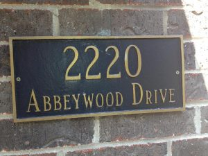 Address Signs address sign 1 300x225
